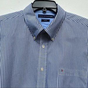 "Tommy Hilfiger Short Sleeve ""Stretch"" Shirt A196"
